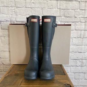 HUNTER Boots NIB Classic Navy Tall Adjustable